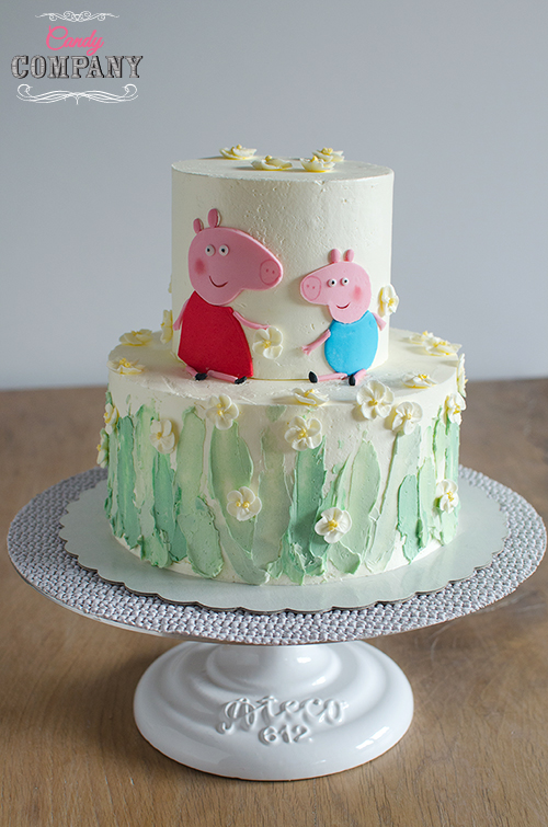 buttercream Peppa cake