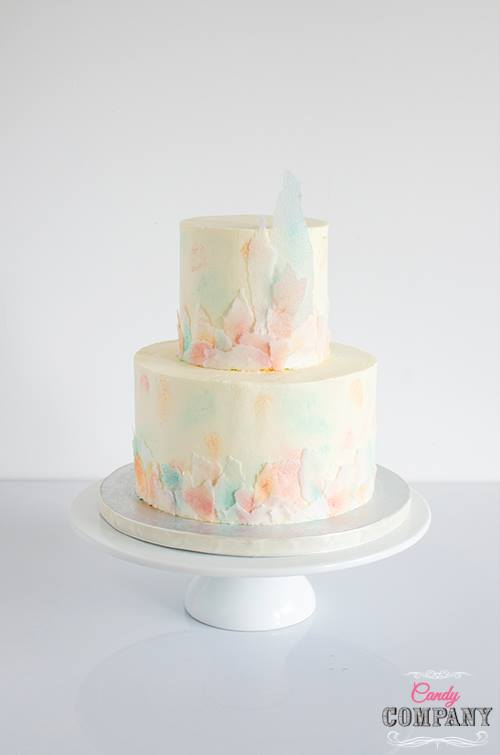 buttercream wafer paper cake