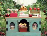 słodki bufet z jabłkami