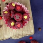 maliny z czekoladą