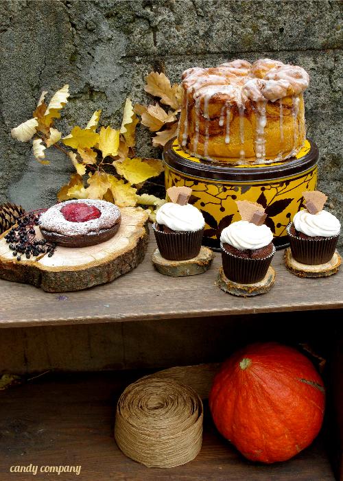 jesienny słodki bufet