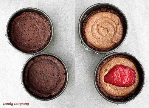 tarta czekoladowa z gruszką