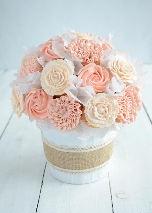 bukiet z babeczek cupcake bouquet