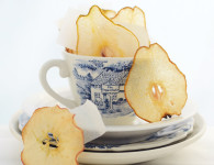 Homemade apple and pear wafers, perfect topping for any kind of dessert