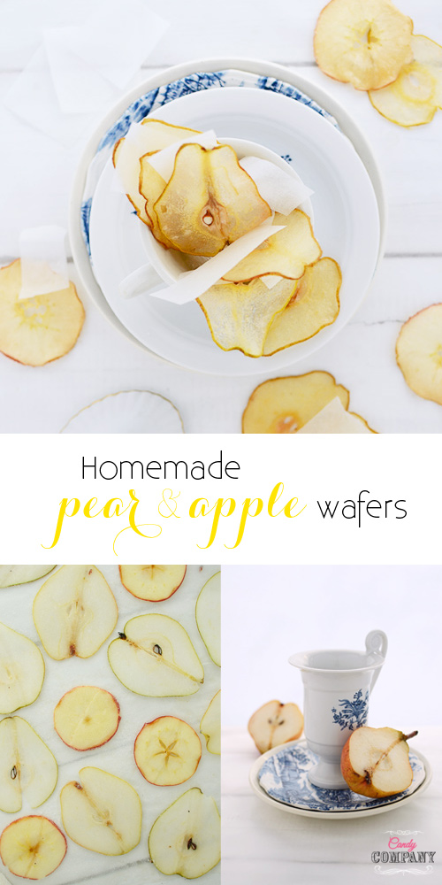 Homemade pear wafers, perfect topper for any kind of desserts!