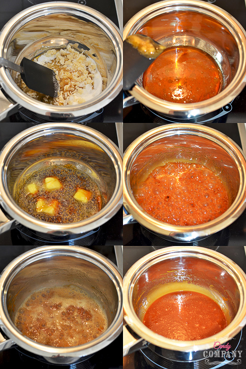 salted caramel sauce preparation step by step