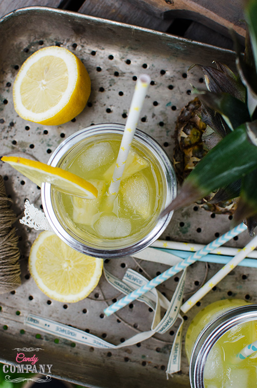 Pineapple lemonade drink