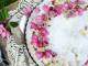 Pistachio amaretti tart with raspberry compote