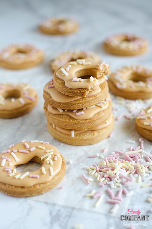 Mini donut sugar cookie with healthy DIY sprinkles