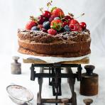 Moist chocolate olive oil cake, flourless & gluten free