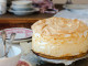 Cherry tart with light meringue foam topping, best meringue cherry pie ever!