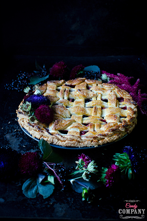 elderberry apple pie szarlotka z czarnym bzem