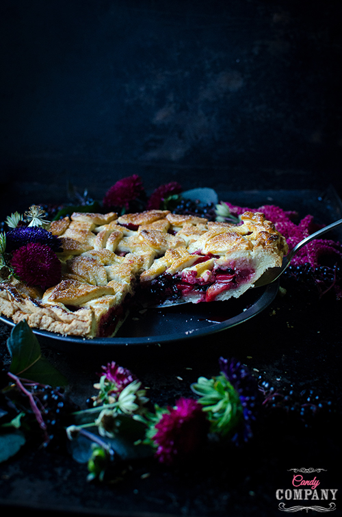 Elderberry apple pie with lattice crust. Food photography by Candy Company.
