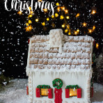 Gingerbread house step by step. Recipe and template, food photography by Candy Company