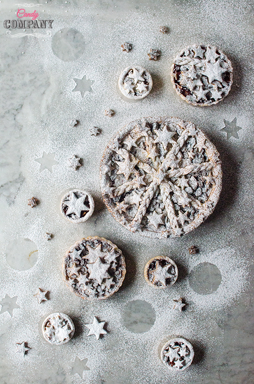 Delicious mincemeat pie recipe, mince pies perfect for Christmas. Food photography by Candy Company
