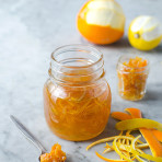 Homemade candied citrus peel recipe, perferct for baking and cakes decorating. Food photography by Candy Company