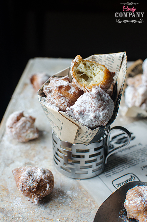 Jerusalem artichoke beignets recipe. Food photography by Candy Company