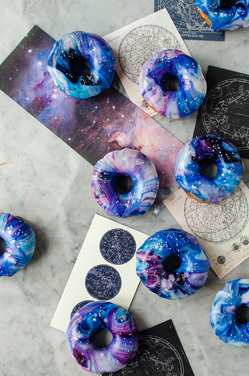Galaxy donuts recipe. Food photography by Candy Company