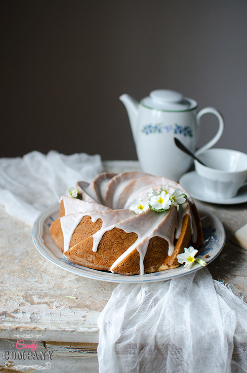 Yellow bundt cake - great recipe for leftover egg yolks. Food photography by Candy Company