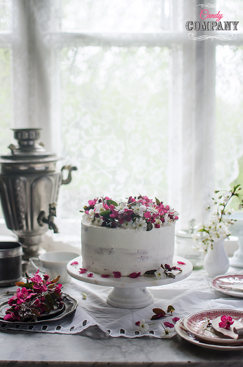 hibiscus layer cake hibiskusowy tort z rabarbarem