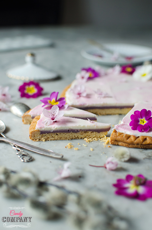 Easter hibiscus yoghurt tart. Mazurek. Food photography by Candy Comapny