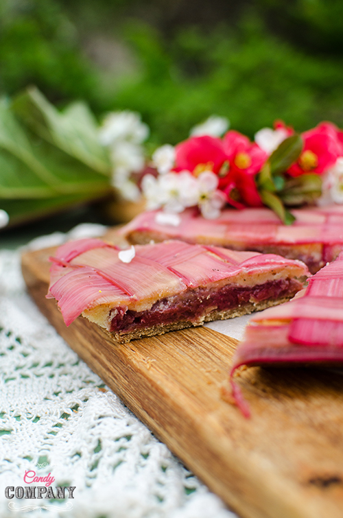 rhubarb lattice tart recipe. Food Photography by Candy Company