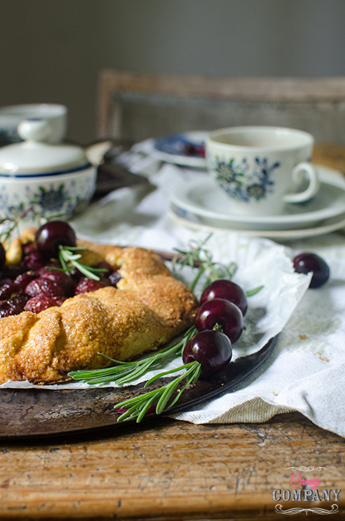 Rosemary and cherry galette recipe, Food photography by Candy Company