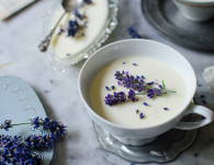 lavender posset dessert recipe. It's easy to make - only 3 ingredients! ood photography by Candy Company