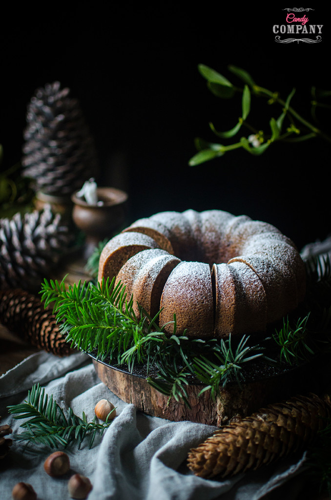 Spiced hazelnut bundt cake, moist and delicious. Food photography by Candy Company