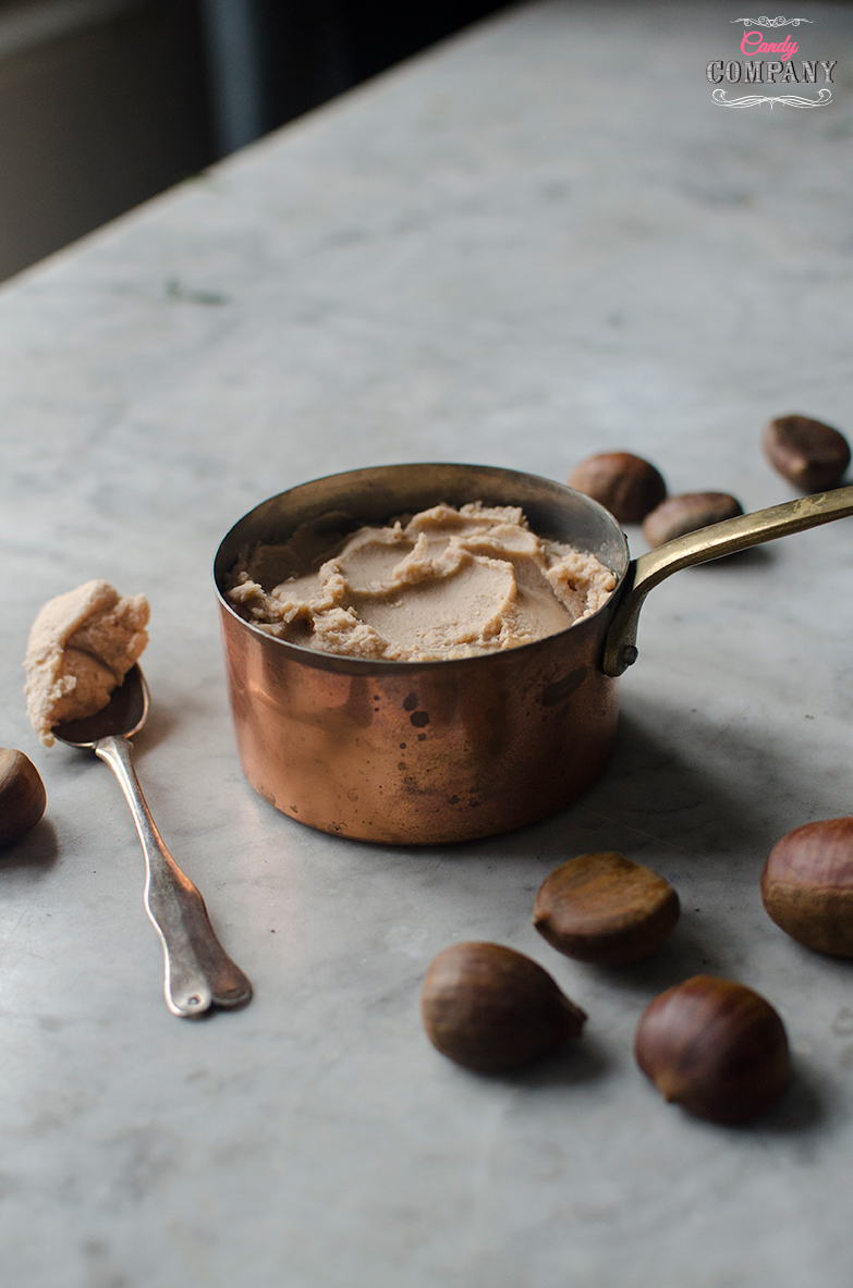 chestnut pure recipe. Food photography by Candy Company