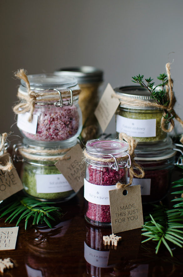edible gift idea diy. Flavored salt and sugar by Candy Company
