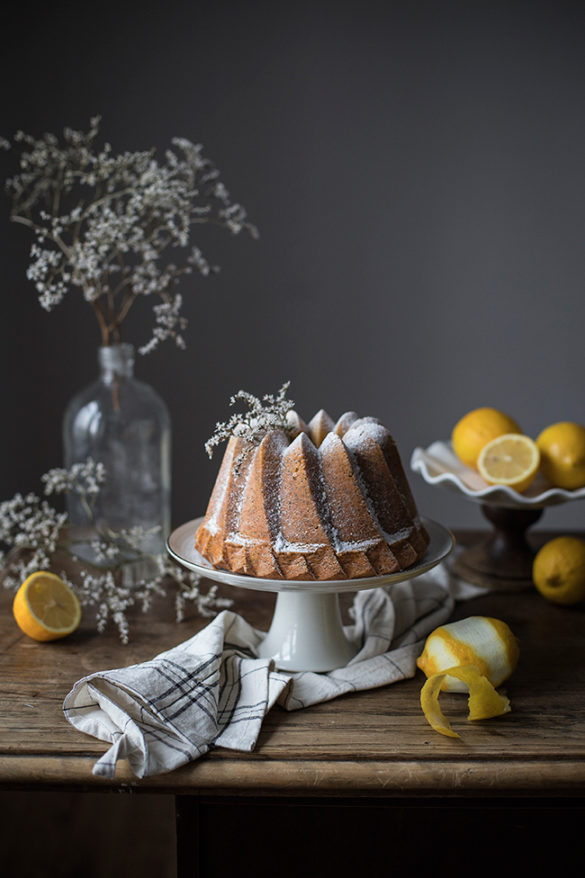 lemon poppy seed bundt cake recipe. Food photography by Candy Company