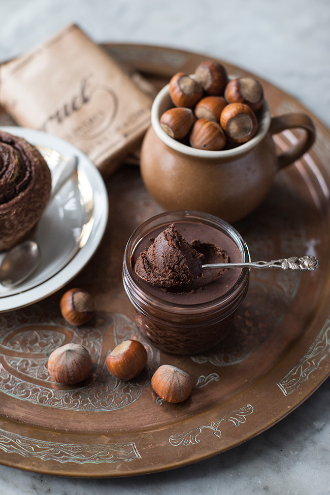 Homemade nutella recipe only 3 ingredients. Food photography by Candy Company