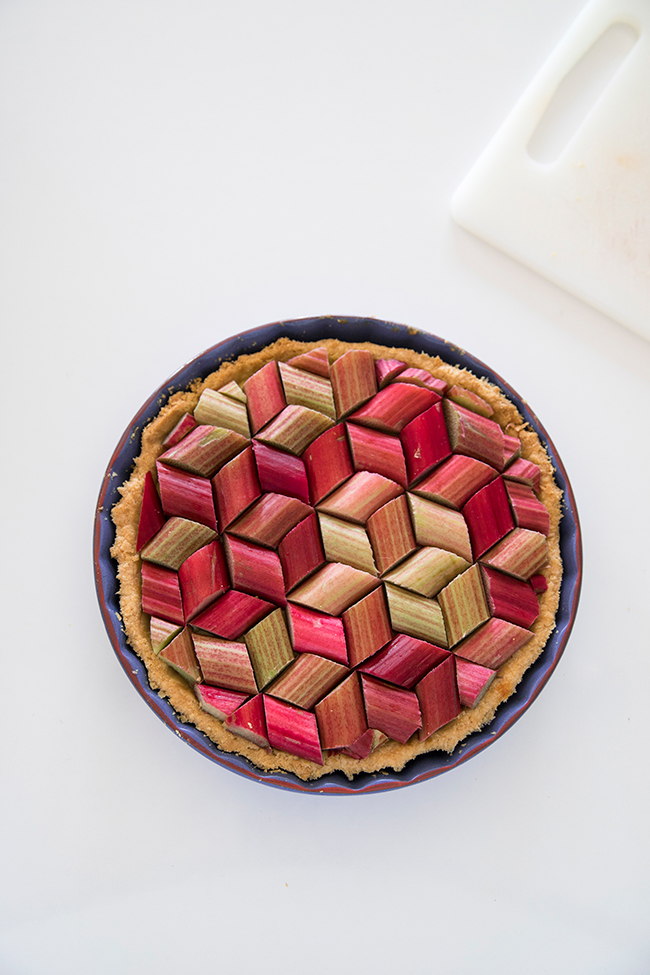 Rhubarb tart recipe by Candy Company