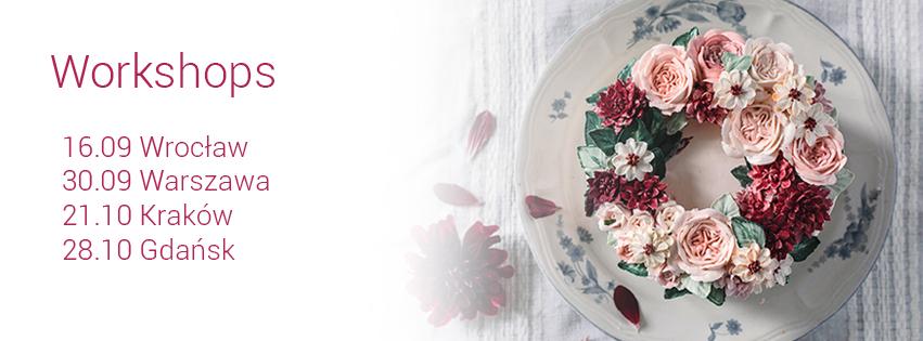 warsztaty z dekorowania tortow kwiaty maslane Candy Company