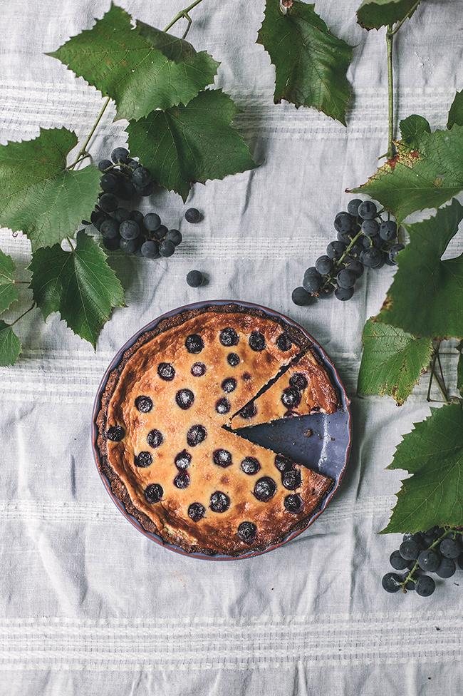 grape tart recipe by Candy Company. tarta z winogronami