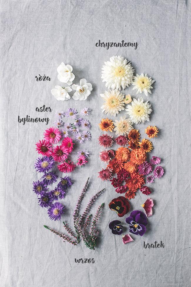 jadalne kwiaty do dekoracji tortów i deserów