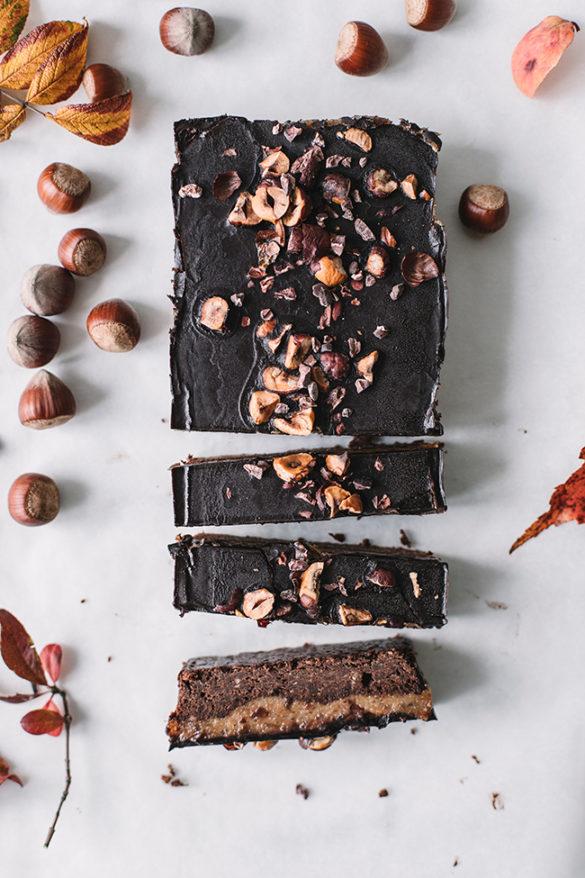 weganskie brownie z karmelem