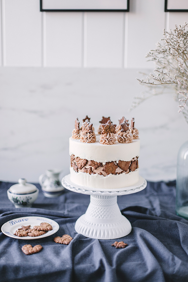 świąteczny tort faux line